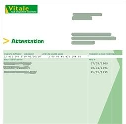 attestation carte vitale