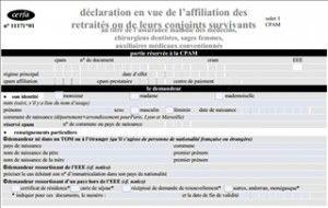 Affiliation, Immatriculation.